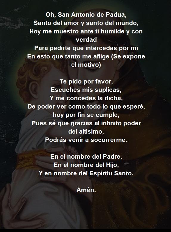 Oración a San Antonio de cabeza